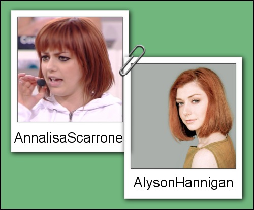 Somiglianza tra Annalisa Scarrone ed Alyson Hannigan