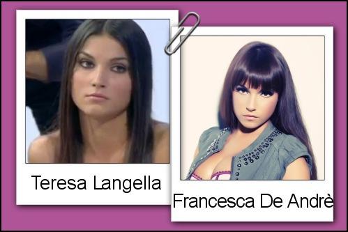 Somiglianza tra Teresa Langella e Francesca De Andrè