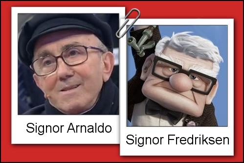 Somiglianza tra il cavaliere Arnaldo e il Signor Fredriksen