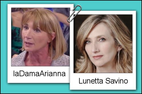 Somiglianza tra la dama Arianna e Lunetta Savino