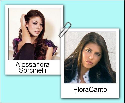 Somiglianza tra Flora Canto ed Alessandra Sorcinelli