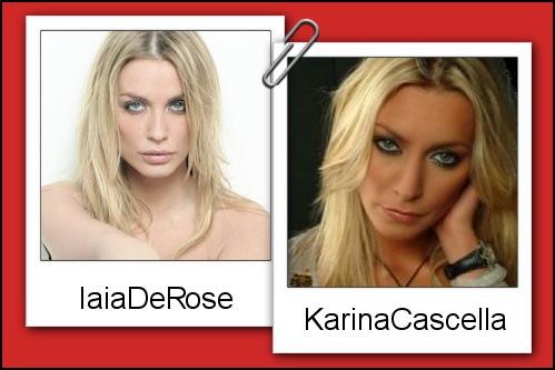 Somiglianza tra Karina Cascella e Iaia de Rose