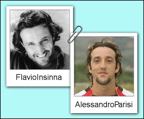 Somiglianza tra Flavio Insinna ed Alessandro Parisi