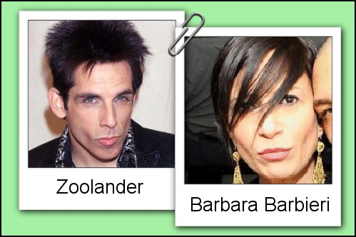 Somiglianza tra Barbara Barbieri e Derek Zoolander