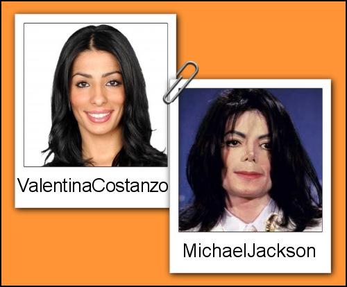 Somiglianza tra Valentina Costanzo e Michael Jackson