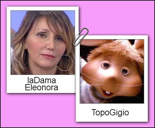 Somiglianza tra la dama Eleonora e Topo Gigio