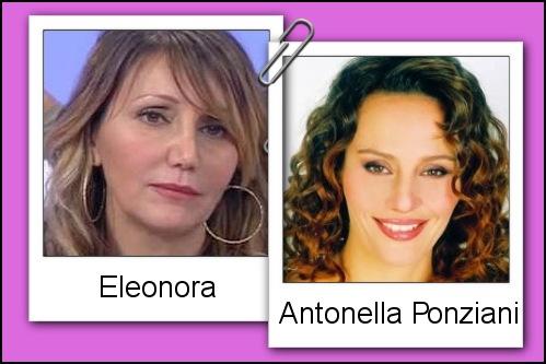Somiglianza tra la dama Eleonora ed Antonella Ponziani
