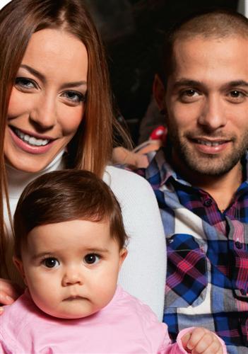 Karina Cascella,Salvatore Angelucci e la piccola Ginevra