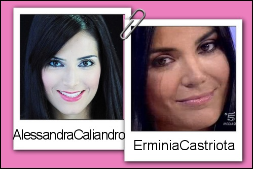 Somiglianza tra Alessandra Caliandro ed Erminia Castriota