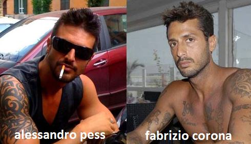 Somiglianza tra Alessandro Pess e Fabrizio Corona