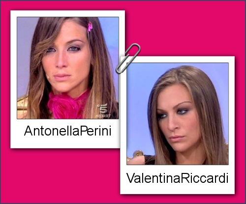 Somiglianza tra Antonella Perini e Valentina Riccardi