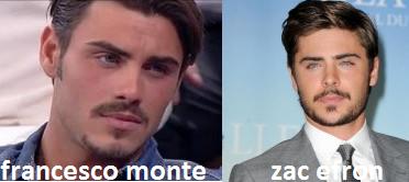 Somiglianza tra Francesco Monte e Zac Efron