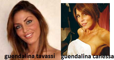 Somiglianza tra Guendalina Tavassi e Guendalina Canessa