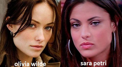Somiglianza tra Sara Petri e Olivia Wilde