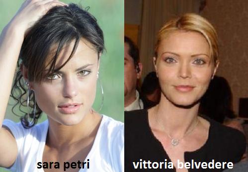 Somiglianza tra Sara Petri e Vittoria Belvedere