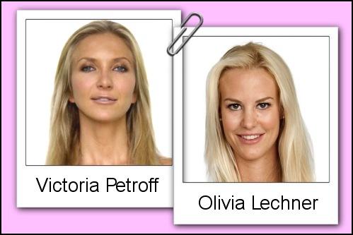 Somiglianza tra Victoria Petroff e Olivia Lechner