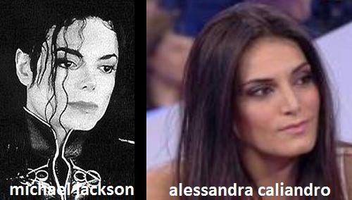 Somiglianza tra Alessandra Caliandro e Michael Jackson