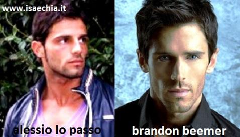 Somiglianza tra Alessio Lo Passo e Brandon Beemer