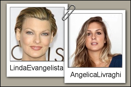Somiglianza tra Angelica Livraghi e Linda Evangelista