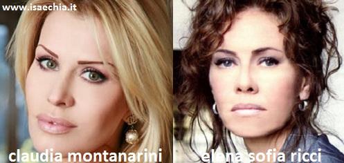 Somiglianza tra Claudia Montanarini ed Elena Sofia Ricci