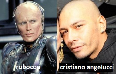 Somiglianza tra Cristiano Angelucci e Robocop