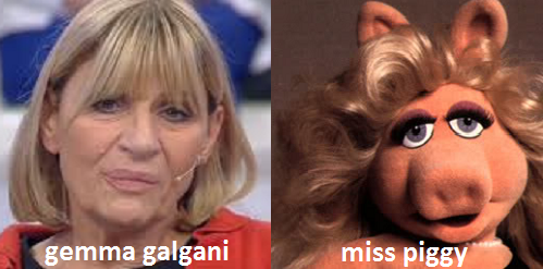 Somiglianza tra Gemma Galgani e Miss Piggy