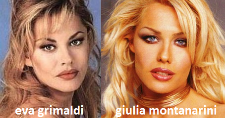 Somiglianza tra Giulia Montanarini ed Eva Grimaldi
