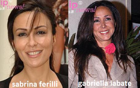 Somiglianza tra Sabrina Ferilli e Gabriella Labate