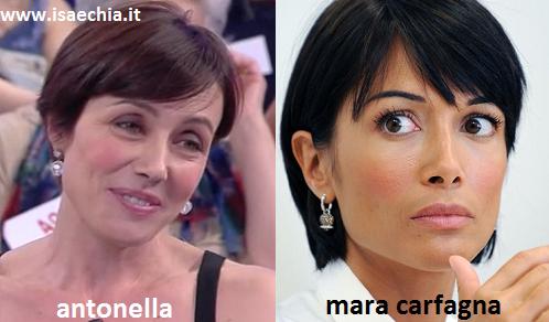 Somiglianza tra la dama Antonella e Mara Carfagna