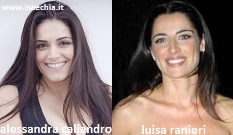 Somiglianza tra Alessandra Caliandro e Luisa Ranieri
