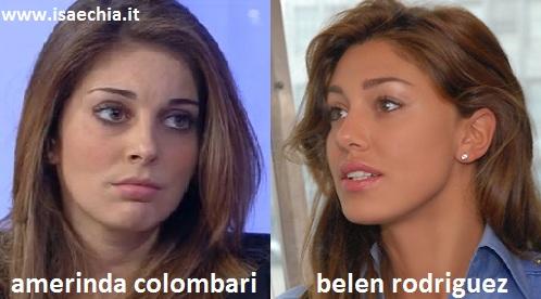 Somiglianza tra Amerinda Colombari e Belen Rodriguez