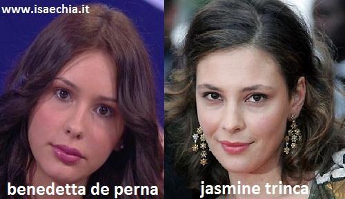 Somiglianza tra Benedetta De Perna e Jasmine Trinca