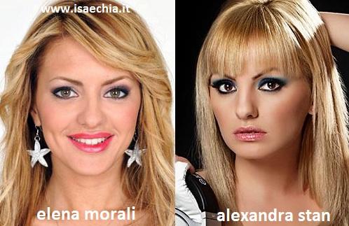 Somiglianza tra Elena Morali ed Alexandra Stan