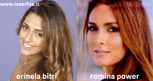 Somiglianza tra Erinela Bitri e Romina Power