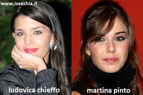 Somiglianza tra Ludovica Chieffo e Martina Pinto