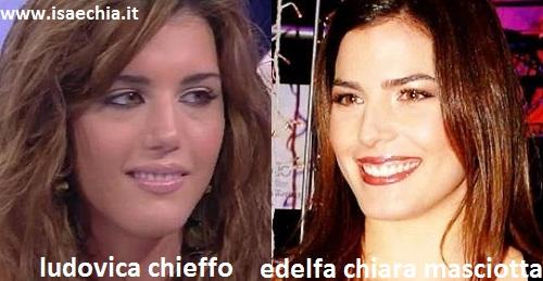 Somiglianza tra Ludovica Chieffo ed Edelfa Chiara Masciotta