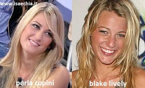 Somiglianza tra Perla Cupini e Blake Lively