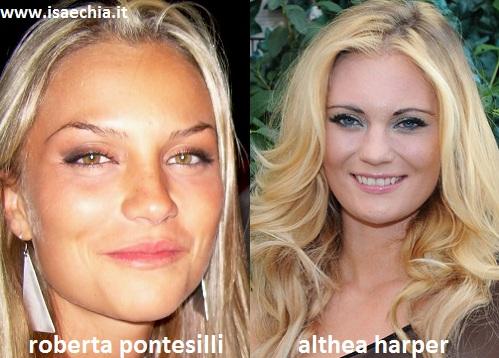 Somiglianza tra Roberta Pontesilli ed Althea Harper
