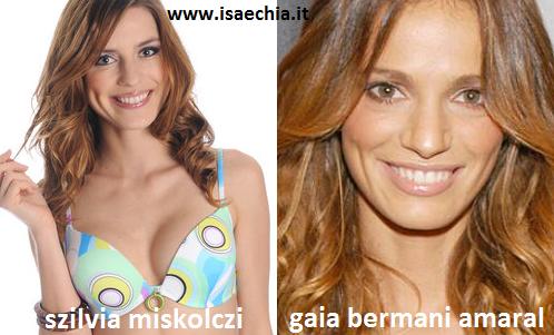 Somiglianza tra Szilvia Miskolczi e Gaia Bermani Amaral