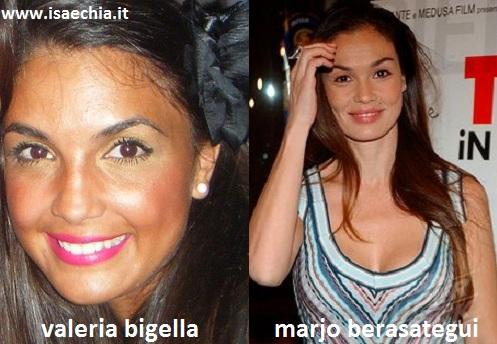 Somiglianza tra Valeria Bigella e Marjo Berasategui