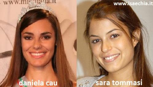Somiglianza tra Daniela Cau e Sara Tommasi