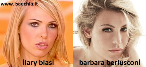 Somiglianza tra Ilary Blasi e Barbara Berlusconi