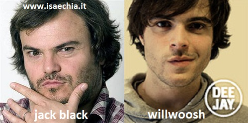 Somiglianza tra Jack Black e Willwoosh