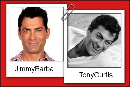 Somiglianza tra Jimmy Barba e Tony Curtis