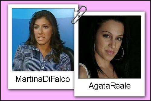 Somiglianza tra Martina Di Falco e Agata Reale