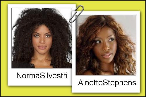 Somiglianza tra Norma Silvestri e Ainett Stephens
