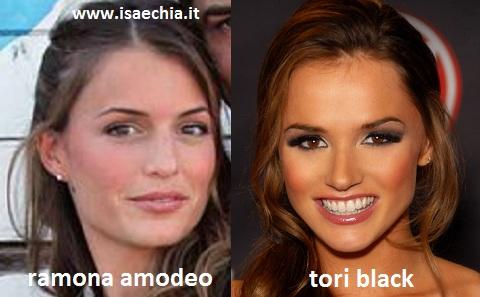 Somiglianze tra Ramona Amodeo e Tori Black
