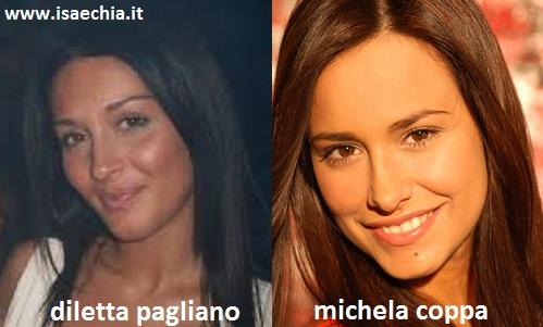 Somiglianza tra Diletta Pagliano e Michela Coppa