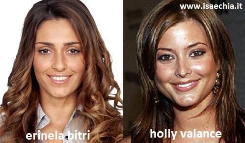 Somiglianza tra Erinela Bitri e Holly Valance
