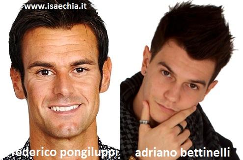 Somiglianza tra Filippo Pongiluppi e Adriano Bettinelli